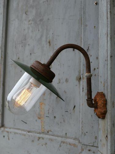 applique lampe de cour col de cygne exterieur