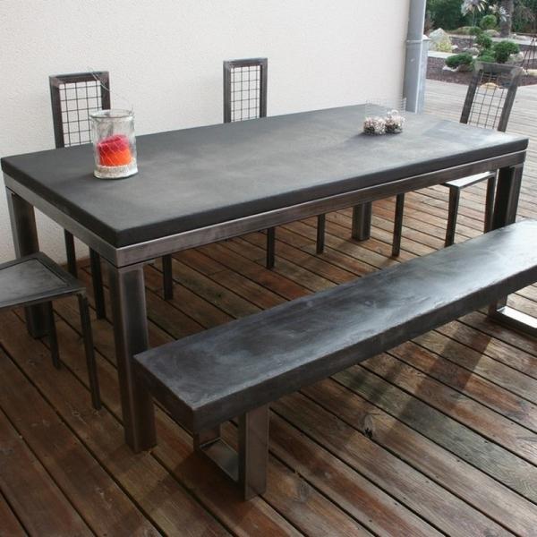grande table beton