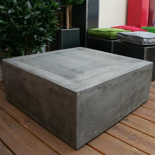 table basse beton cube table basse