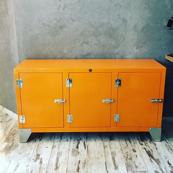 meuble buffet metal 3 portes