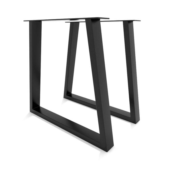 2 x pied de table trapeze h74