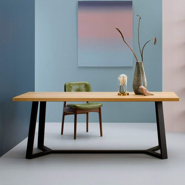 table bureau bois metal
