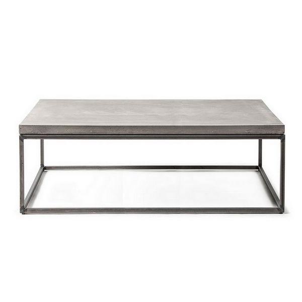 table basse beton rectangle
