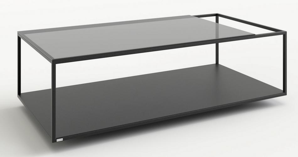 table basse acier et verre mobilier