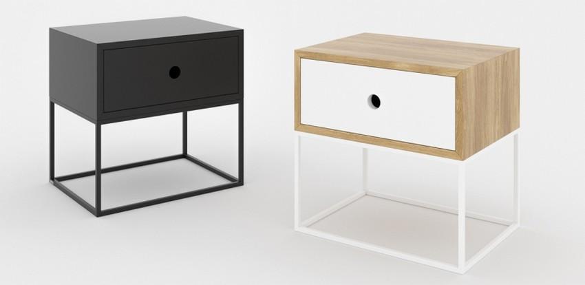 table de chevet bois blanche mobilier