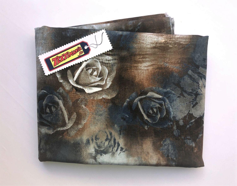 coupon fleur tie and dye indigo choco les 3 metres