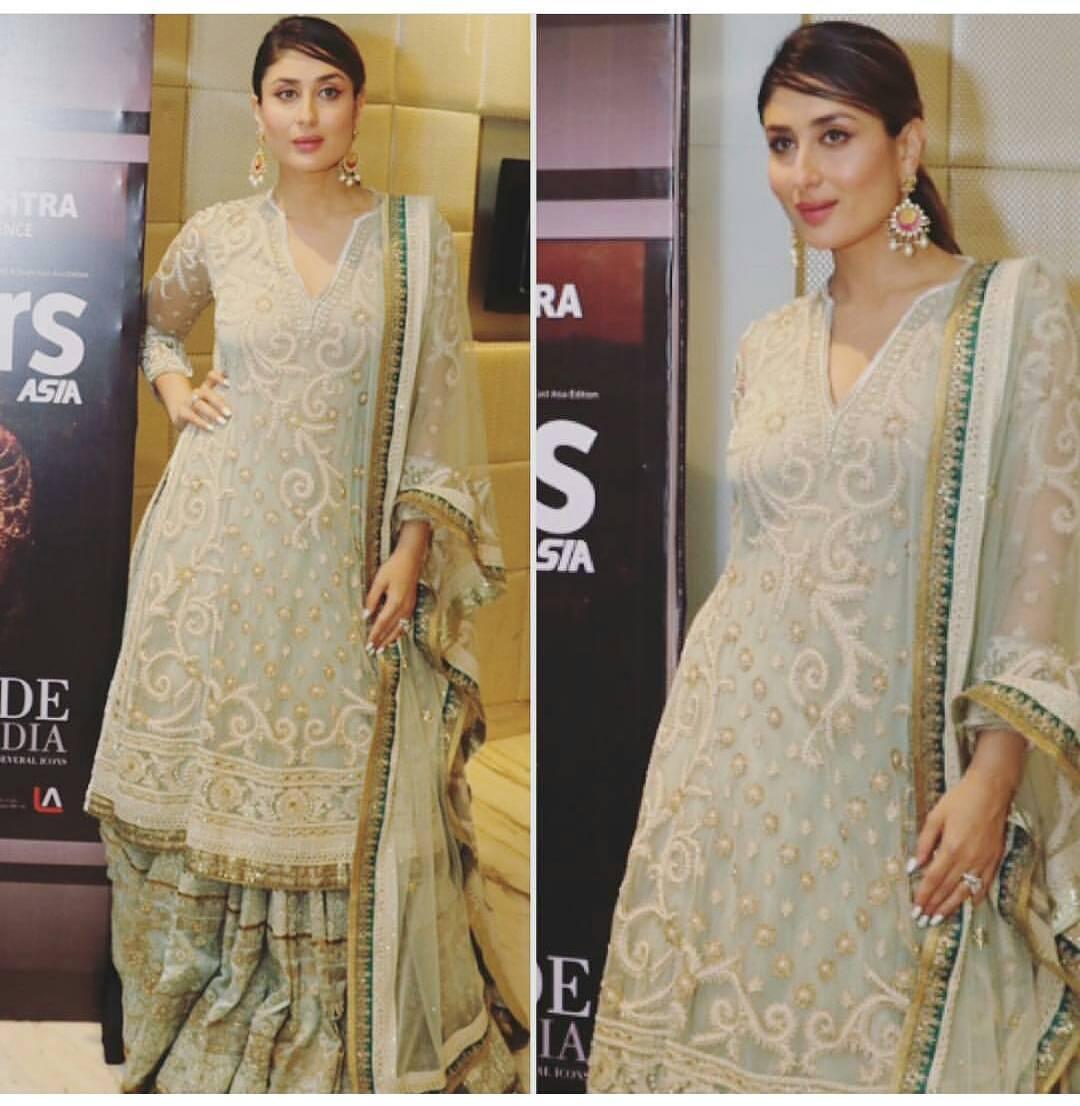 Kareena Kapoor Khan In An Ivory Suit By Tarun Tahiliani