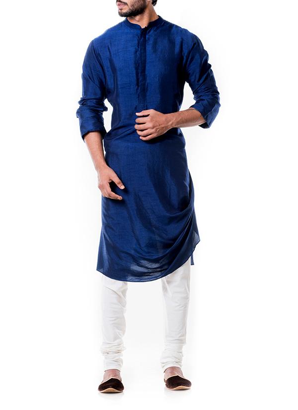 Anju Agarwal Blue Cowl Kurta Set Shop Kurtas At