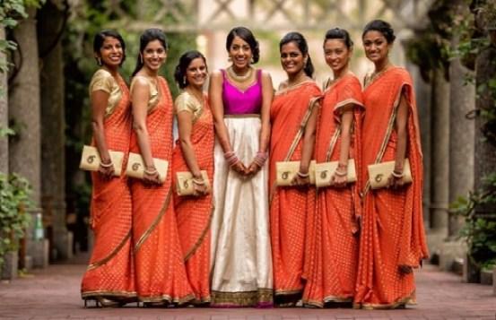 Bridesmaid flaunting Handbag