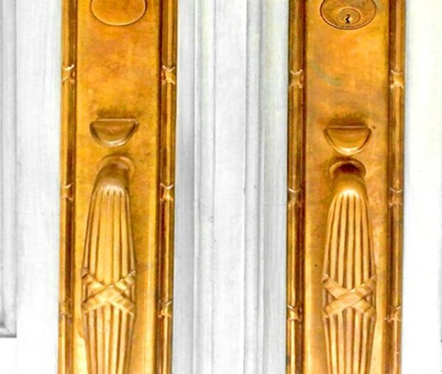 Unlacquered Brass Entry Set With Patina
