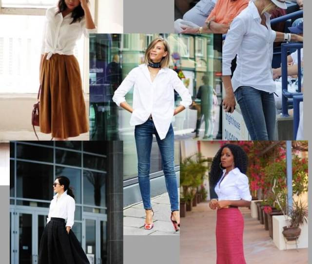 The White Blouse Works For Casual Work And Dressy Looks