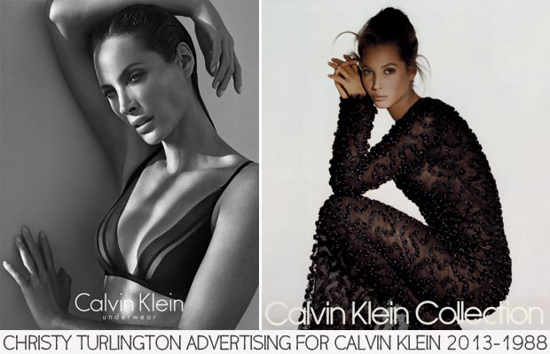 Christy Turlington Calvin Klein advertising 2013 1988