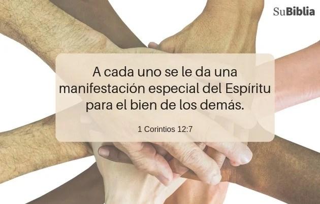 1 Corintios 12:7