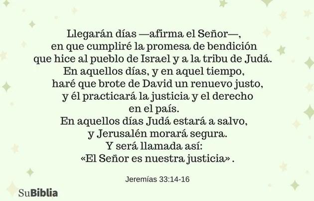 Jeremías 33:14-16