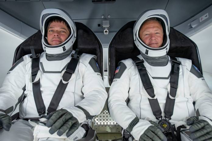 Astronauts Douglas G. Hurley and Robert L. Behnken for Crew Dragon Demo-2 mission