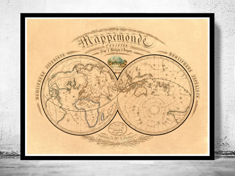 vintage maps and prints