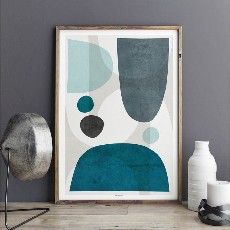 Blue Abstract Wall Art Living Room Art Blue Large Abstract Wall Print Bronagh Kennedy Art Prints