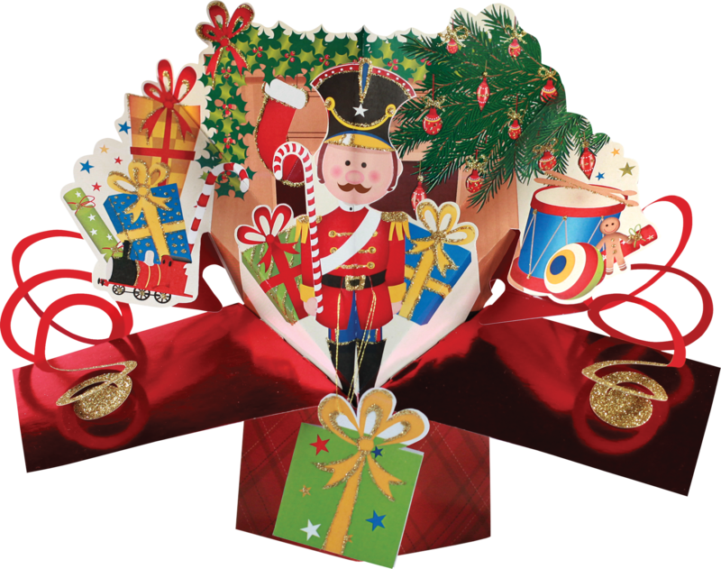 Second Nature Xmas Petite Pop Ups Nutcracker Second