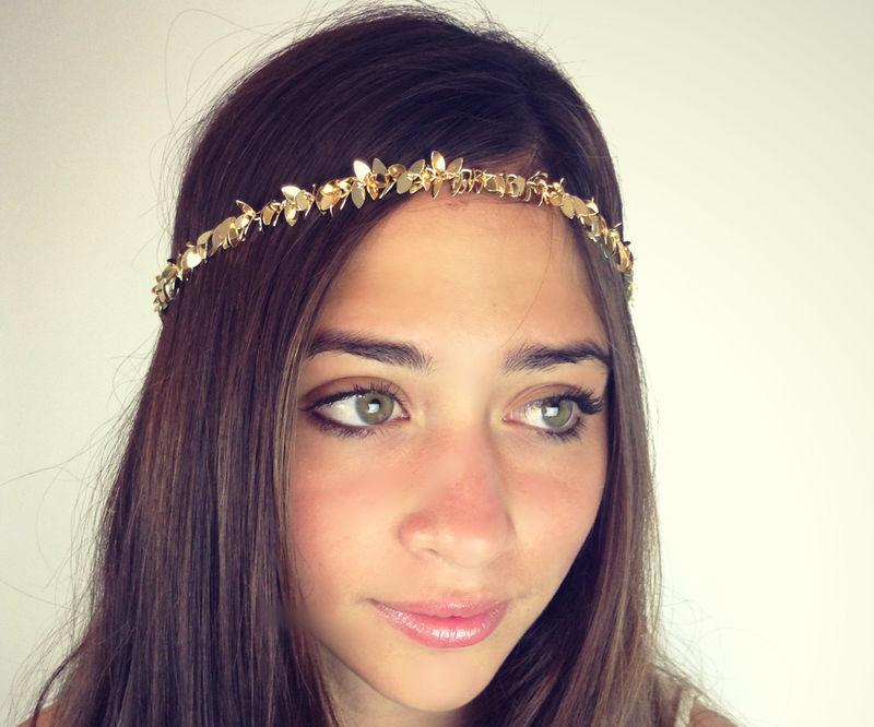 CHAIN HEADPIECE Chain Headdress Head Chain Gold Or A