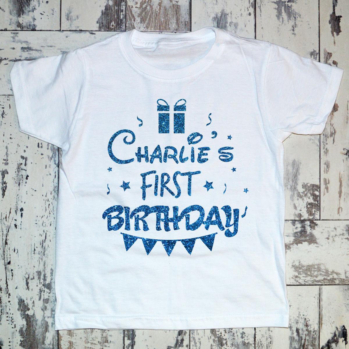Personalised Birthday T Shirt Boy Googoo Boutique