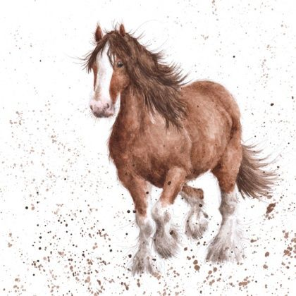 Gentle Giant Horse Blank Greetings Card Karenza Paperie