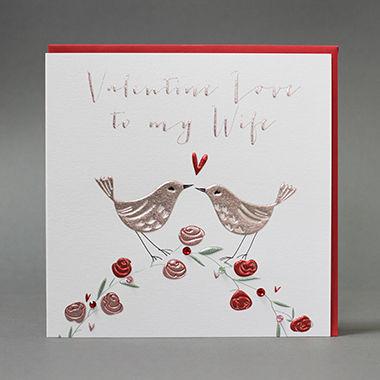 Handmade Valentine Love To My Wife Valentines Day Card