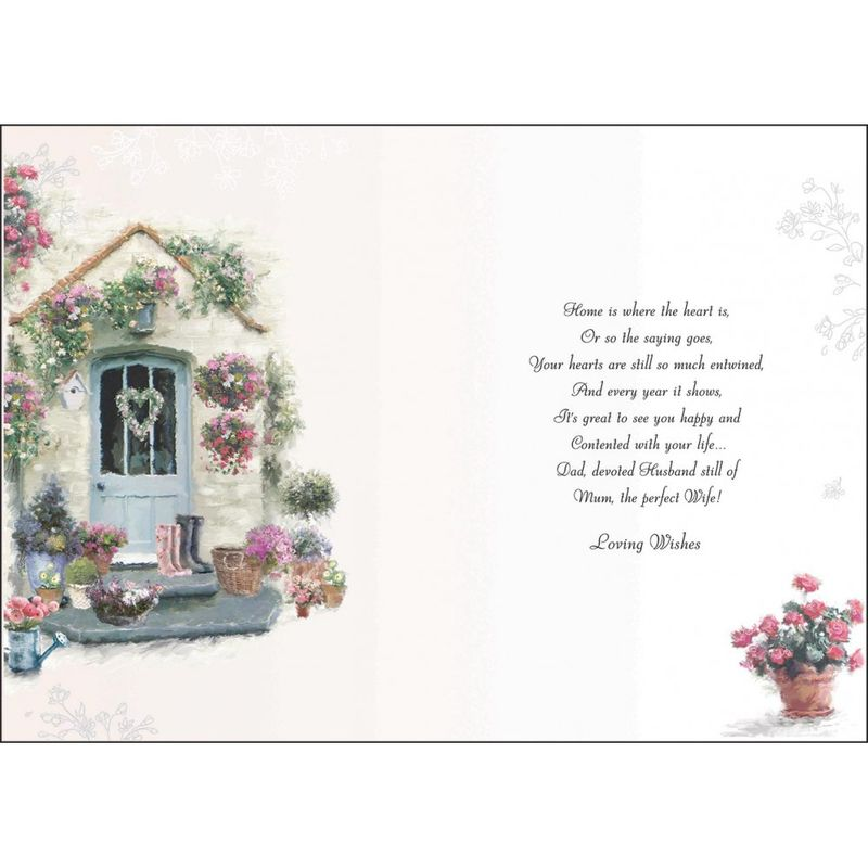 Mum Amp Dad Happy Anniversary Card Karenza Paperie