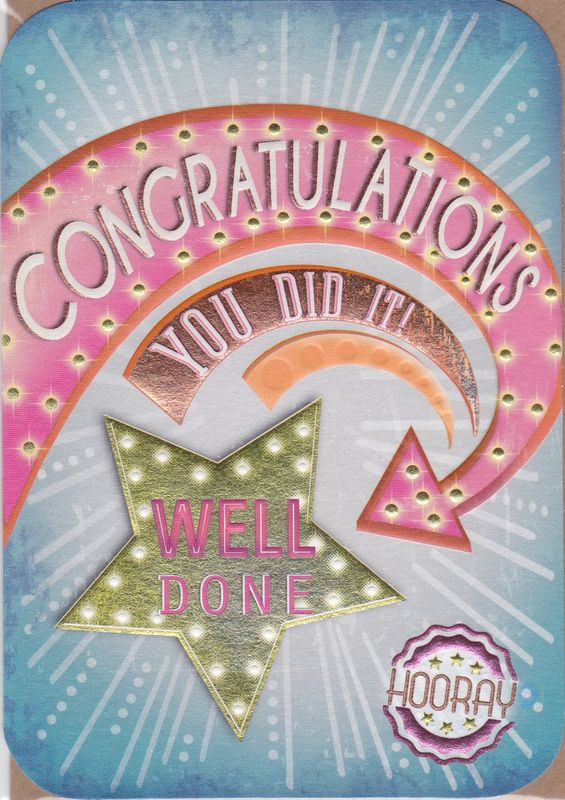 Buy Congratulations And Well Done Celebrations Cards