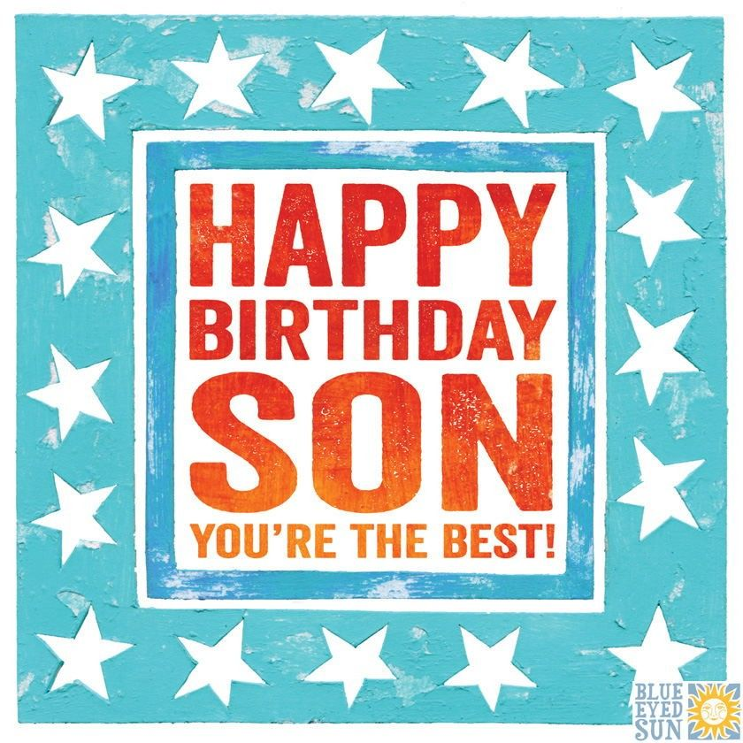 Happy Birthday Son Birthday Card Karenza Paperie