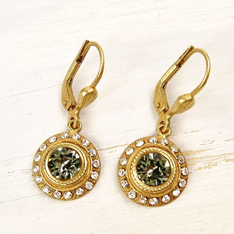 Catherine Popesco Round Crystal Earrings TALICH