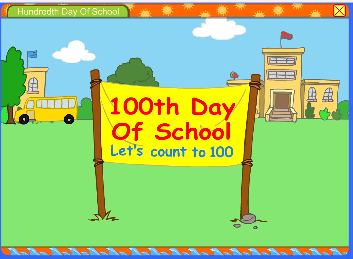 Starfall S 100th Day Of School 100 School Days Surfnetkids