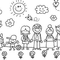 my family coloring pages surfnetkids
