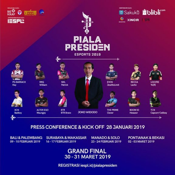 Mobile Legends Piala Presiden Esports 2019