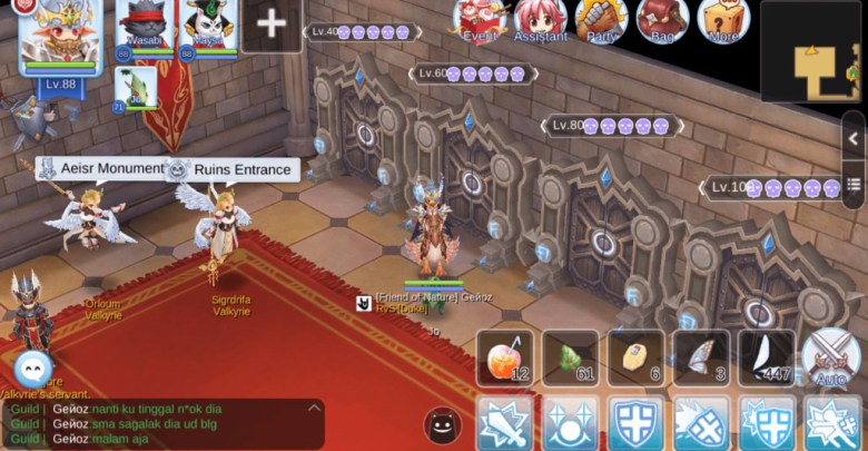 Valhalla Ruins 80 Map Guide Global Server Ragnarok Mobile