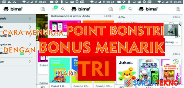 cara menukar point bonstri lewat aplikasi bima+