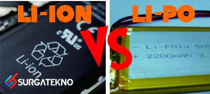 perbedaan baterai li-ion dengan li-po