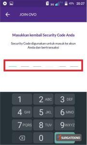 masukkan ulang security code