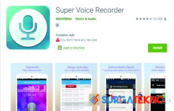 aplikasi super voice recorder