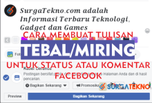 Photo of Cara Membuat Tulisan Tebal/Miring di Facebook