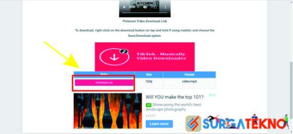 klik download link pada experts php