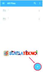 klik tombol + pada aplikasi dropbox