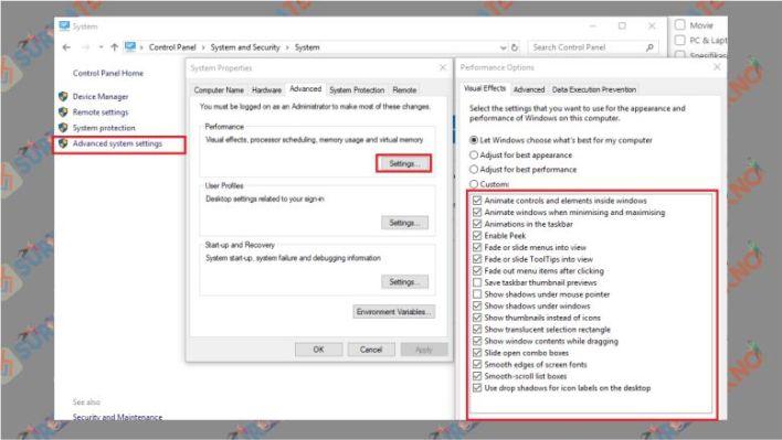 Matikan Special Effects Windows 10