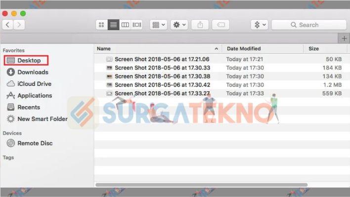 Tempat File Hasil Screenshot Macbook