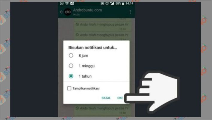 cara membisukan notifikasi grup whatsapp