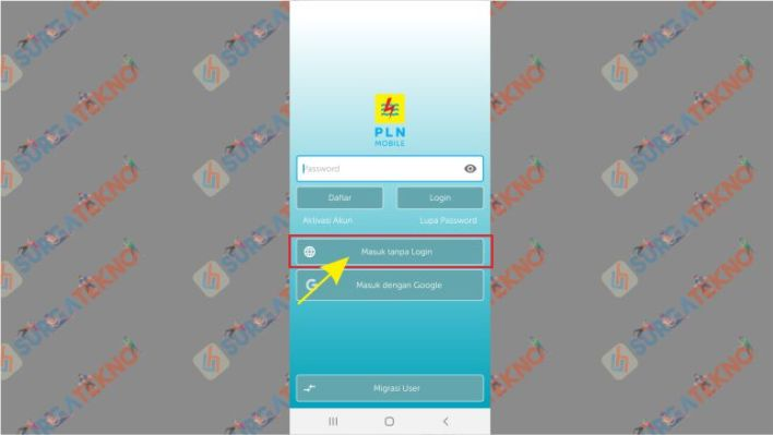 Menu utama PLN Mobile Android