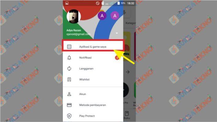 Pilih Menu Aplikasi dan Game Saya di Google Play