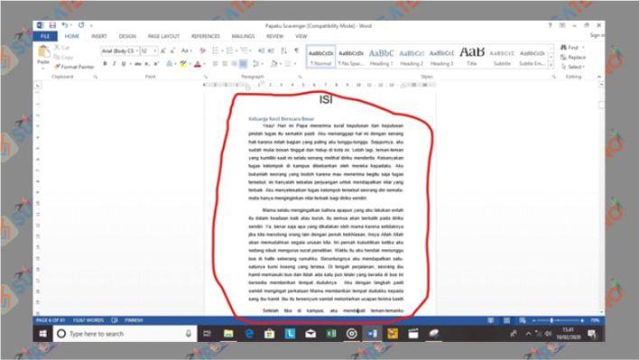 Mulai Susun Bab dan Subbab Dokumen Word