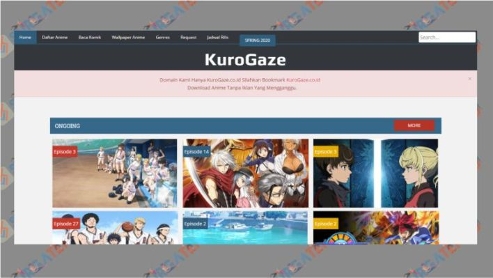 Website Kurogaze - Situs Download Anime