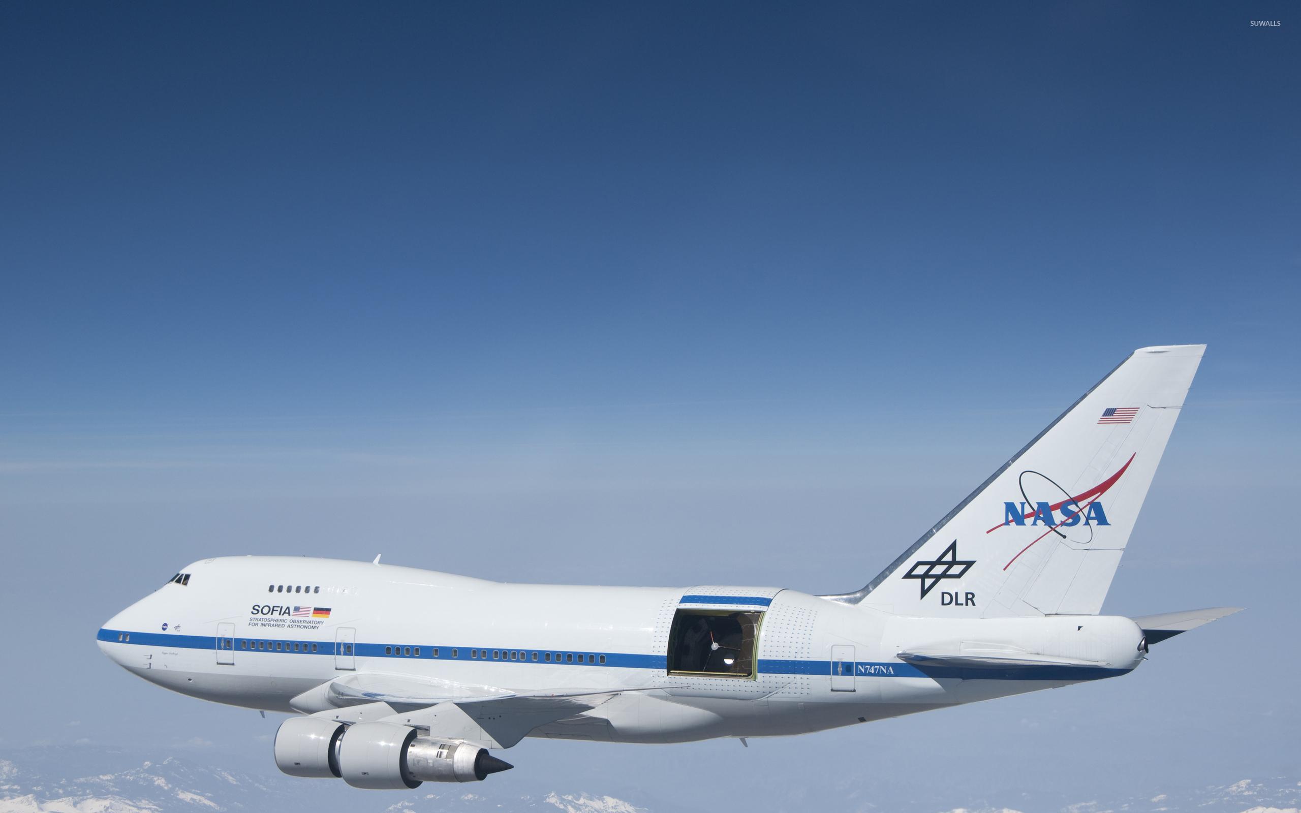 nasa boeing 747 in-flight wallpaper - aircraft wallpapers - #49149