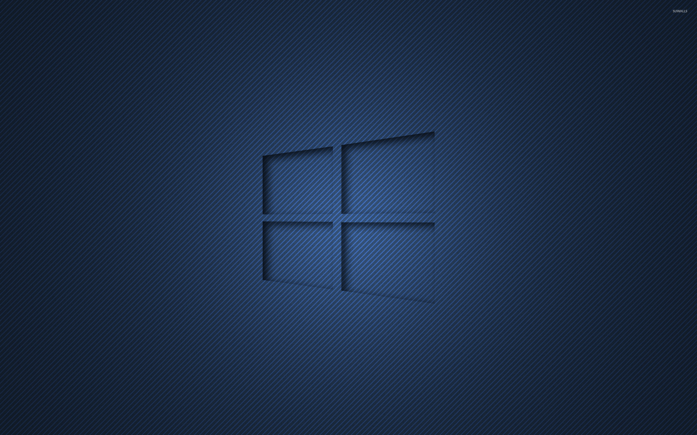 windows 10 transparent logo on blue stripes wallpaper - computer